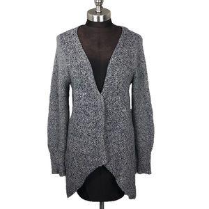 Anthropologie Grey Chunky Asymmetrical Cardigan